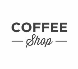 coffe shop icon with letters