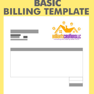 a yellow design billing template for business