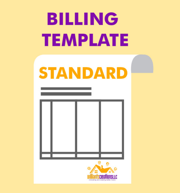 a design for billing template