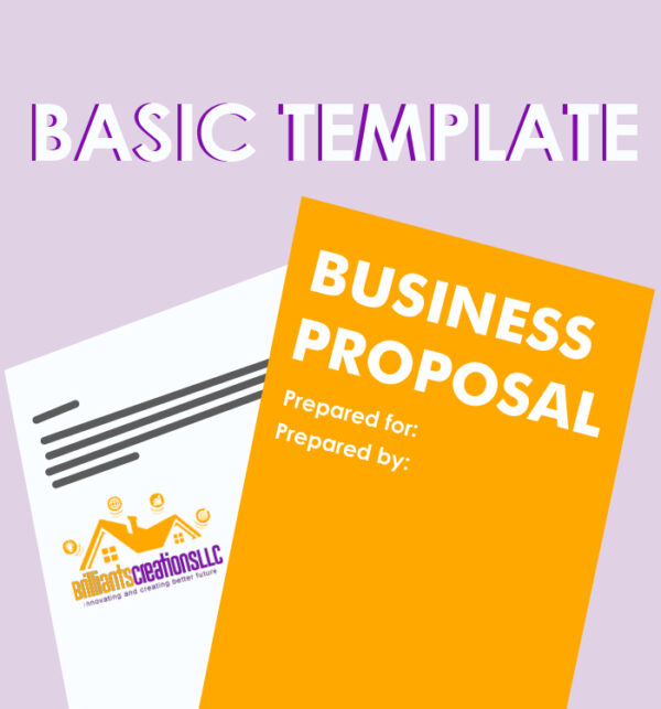 a design for proposal template